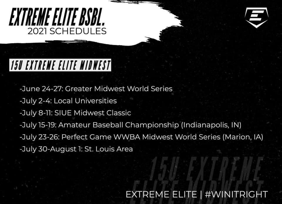 15u Midwest Schedule